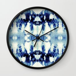 Tie Dye Blues Wall Clock
