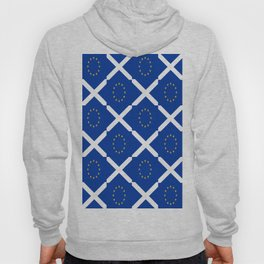 Mix of flag: UE and scotland Hoody