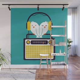 Radio Mode Love Wall Mural