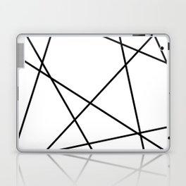 Lines in Chaos II - White Laptop & iPad Skin