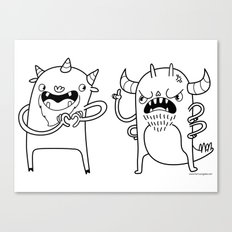 Monster Dialogues Canvas Print