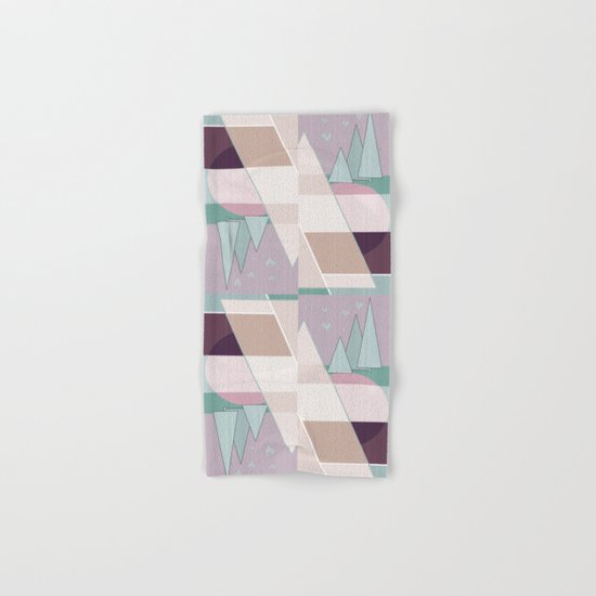 Pastel tone . Abstraction . Hand & Bath Towel