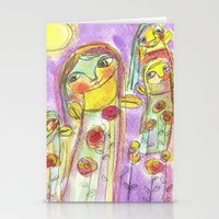 fairies Stationery Cards featuring Flower fairies by Dulcamara