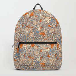 Orange and blue abstract pattern Backpack