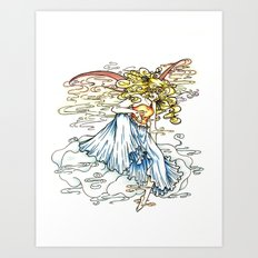 Elemental series - Air Art Print