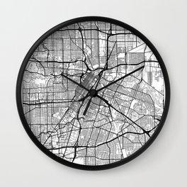 Houston Map White Wall Clock