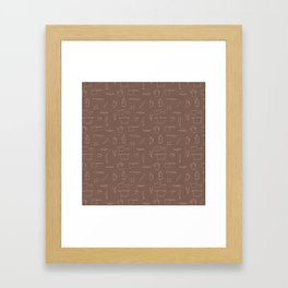 Saturday Morning Kitchen - Coffee Color Framed Art Print