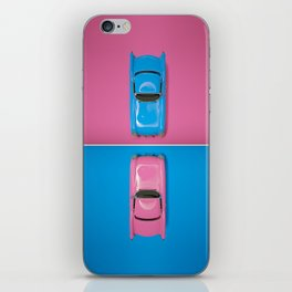 Cars Story - Pink on Blue & Reverse iPhone Skin