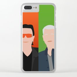 Bono, the Edge, Adam Clayton, Larry Mullen Jr Clear iPhone Case