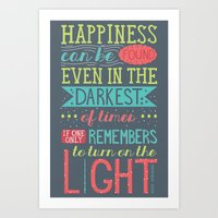 happiness Art Prints featuring Happiness by Dorothy Leigh