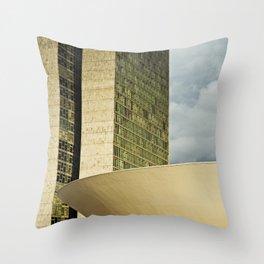 Brasilia, Brazil Architecture Throw Pillow