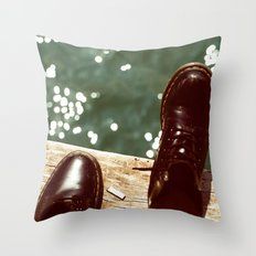 the places we'll go... Throw Pillow