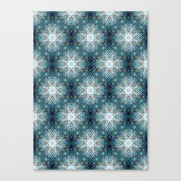 Eight Pointed Star Pattern Canvas Print
