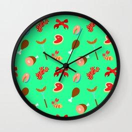 Meat Pattern Wall Clock