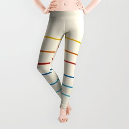 Abstract Retro Stripes #1 Leggings