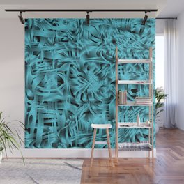 Unusual doodle in gentle colors with a royal light blue tint. Wall Mural