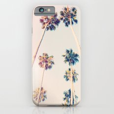 Vintage Pastel Palm trees iPhone 6 Slim Case