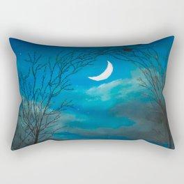 The Moon Gate Rectangular Pillow