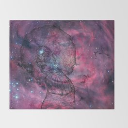 Gorgeous Groovy Galaxy Gal Throw Blanket