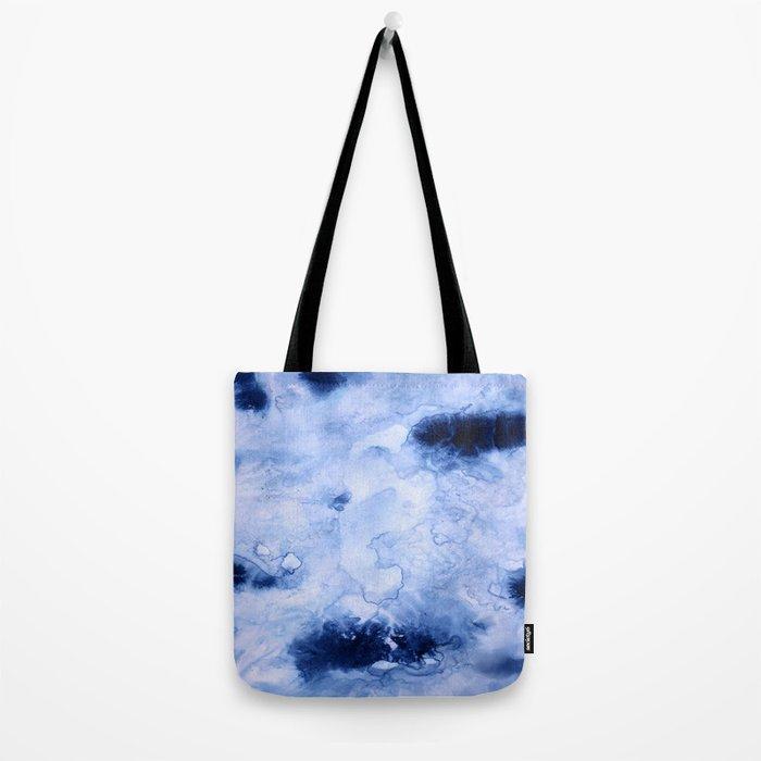 Marbled Water Blue Tote Bag