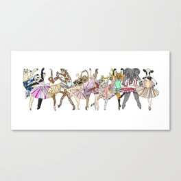 Animal Ballet Hipsters LV Canvas Print