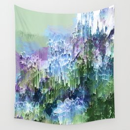 Wild Nature Glitch - Blue, Green, Ultra Violet #nature #homedecor Wall Tapestry