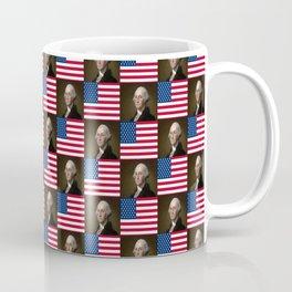 Flag and portrait:  George Washington. Coffee Mug
