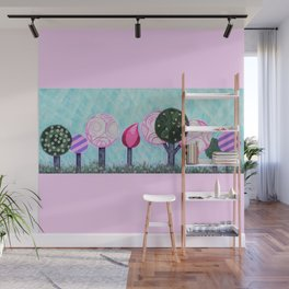 Pink grove Wall Mural
