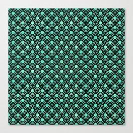 Mermaid Scales in Metallic Sea Foam Green Canvas Print