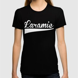LARAMIE Baseball Vintage Retro Font T-shirt