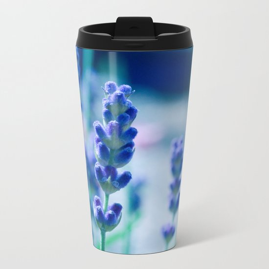 A Touch of blue - Lavender #1 Metal Travel Mug