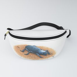 Blue Death Feigning Beetle Fanny Pack