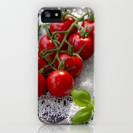 Tomato risotto on salt iPhone Case