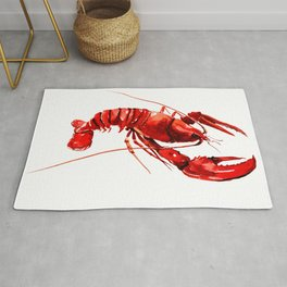 Red Lobster Design illustration Rug