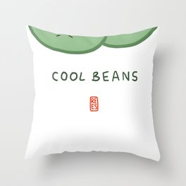 Cool Beans Throw Pillow