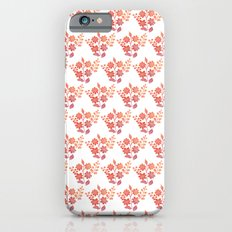 Orange floral pattern 2 Slim Case iPhone 6s