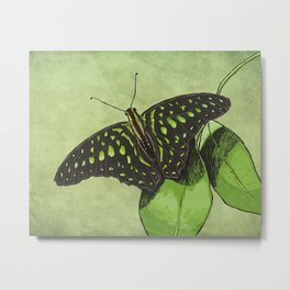 Nature's Camouflage Butterfly Metal Print