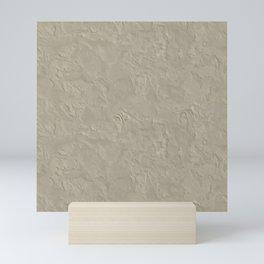 Beige Rough Plastering Texture Mini Art Print