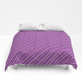 Lilac Purple Violet Inclined Stripes Comforters