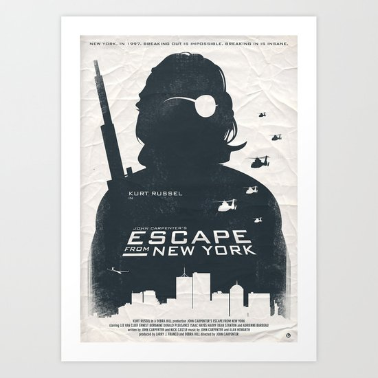 John Carpenter's Escape From New York Art Print