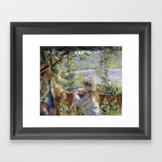 By the Water (Near the Lake) by Renoir Framed Art Print
