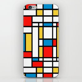 Tribute to Mondrian No2 iPhone Skin