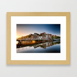 Town in zero gravity Framed Art Print