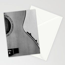 acoustic electric guitar music aesthetic close up elegant fine art photography  Stationery Cards