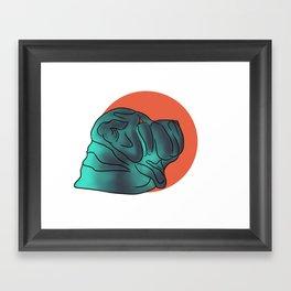 Lil Blue Framed Art Print