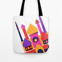 india Tote Bags featuring India by Anne