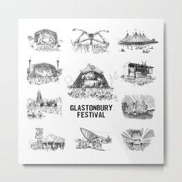 Glastonbury Festival Stages Metal Print