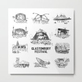 Glastonbury Festival Stages Metal Print