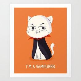 I'm a Vampurrr Art Print
