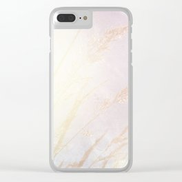 Abstract summer blush pink yellow whey pattern Clear iPhone Case